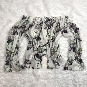 🌼3/$25 Floral Off Shoulder Long Sleeve Top